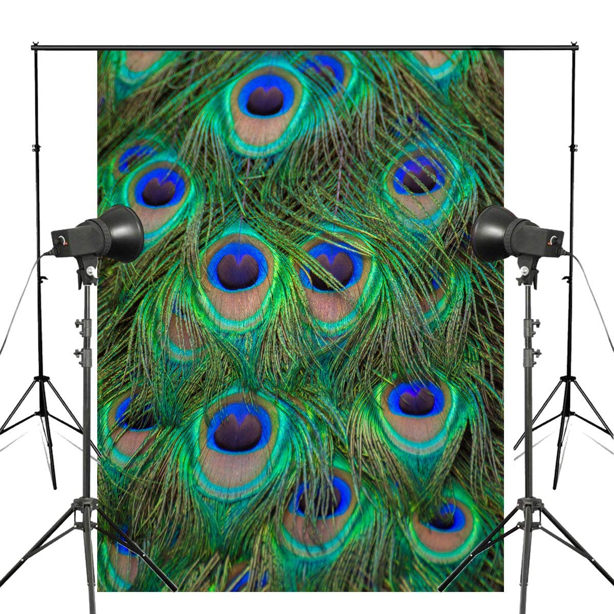5x7ft Clearly Peacock Tail Photography Background Feather Backdrop Kids Photo Studio