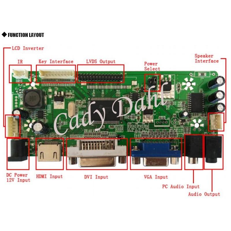 HDMI VGA Audio LCD Controller Board for 14