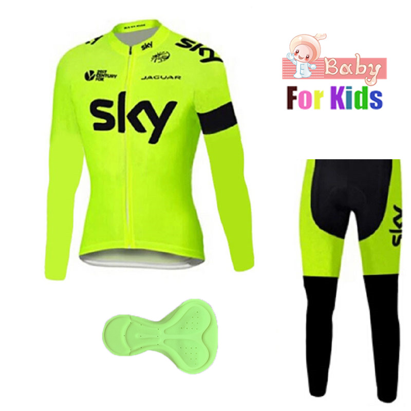 Children's Pro Team Cycling Jerseys Long Sleeve Cycling Clothing Set Ropa Ciclismo Kids Bicycle Clothing Suits Breathable Jersey 2017 new pro team cycling jerseys bike clothing ropa ciclismo breathable short sleeve 100 page 7