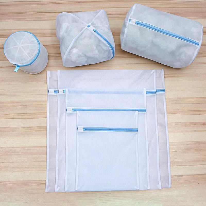 6 Kích Cỡ Giặt Túi Giặt Rửa Tất Đồ Lót Áo Ngực Túi Có Thể Gấp Lại Được Bảo Vệ Đồ Lót Rửa Túi Lưới Quần Áo Giặt Túi title=