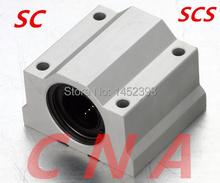 SC12UU SCS12UU movimento Linear rolamentos de esferas de bloco de slides bucha para 12mm trilho de guia do eixo linear CNC peças 8 pçs/lote