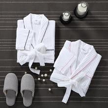 Bath Robe Men Dressing Gown Unisex Men's Robe Sleeve Solid Waffle Kimono Robe Sleep Lounge Bathrobe Peignoir Nightgowns Lovers