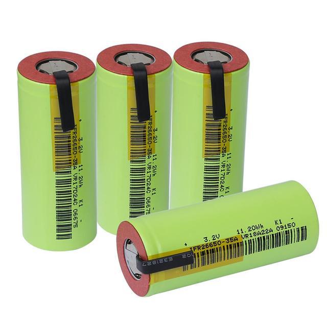 4 adet IFR 26650 lifepo4 35A 3500mAh 3.2V şarj edilebilir pil 10 oranlı deşarj uygun DIY nikel levhalar e sigara
