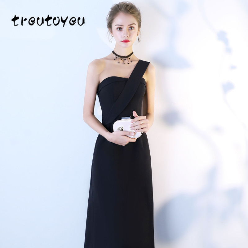 f237a7c8e7 US $39.99 |Aliexpress.com : Buy Treutoyeu Womens Dresses 2018 Summer New  Fashion Sexy Strapless Dress Romantic Single Shoulder Party Evening Banquet  ...