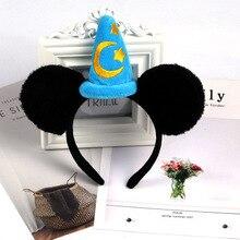 Уши Минни-Маус повязки на голову Мода Леди Девушка повязка на голову Сексуальная повязка на голову день рождения уши Минни-Маус аксессуары для волос