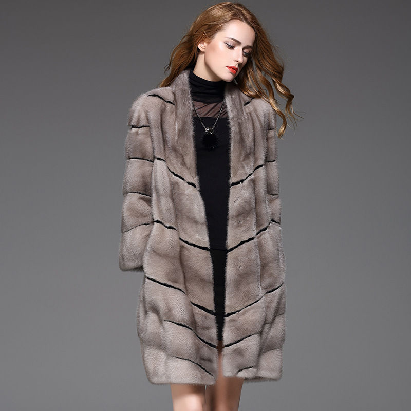 In 2017 the long The mink coat grass silver blue grey mink ladies ...
