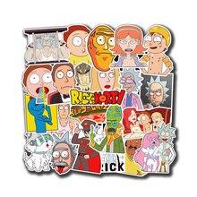 50 шт./лот, наклейки с изображением американской драмы Рика и Морти, наклейка для сноуборда, багажа, автомобиля, холодильника, наклейки для ноутбука