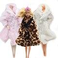 Doll Accessories Winter Wear Warm Fur Coat Dress Clothes For Barbie Dolls Fur Doll Clothing For 1/6 BJD Doll Kids Toy eg010