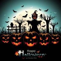 10X10ft Halloween Style Photo Background Vinyl Photography Backdrops for Photo Studio Halloween Backdrop Prop HA 235