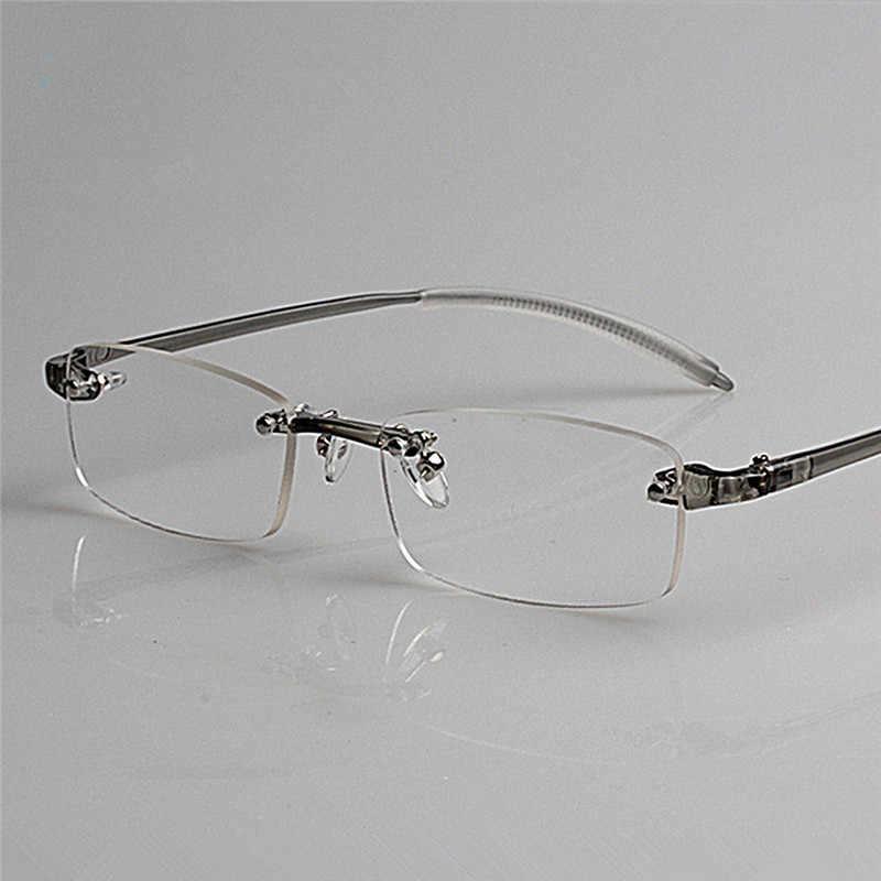 364e8bafbd Fashion Rimless Men Women Reading Glasses Retro Brand Comfy Ultra-light  TR90 Reading Eyewear Presbyopic