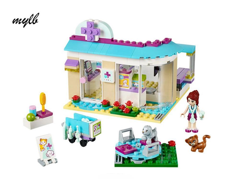 mylb 203pcs Ընկերներ Vet Clinic Building Blocks Sets Diy Bricks Ուսումնական խաղալիքներ Համատեղելի ընկերներ աղջկա համար