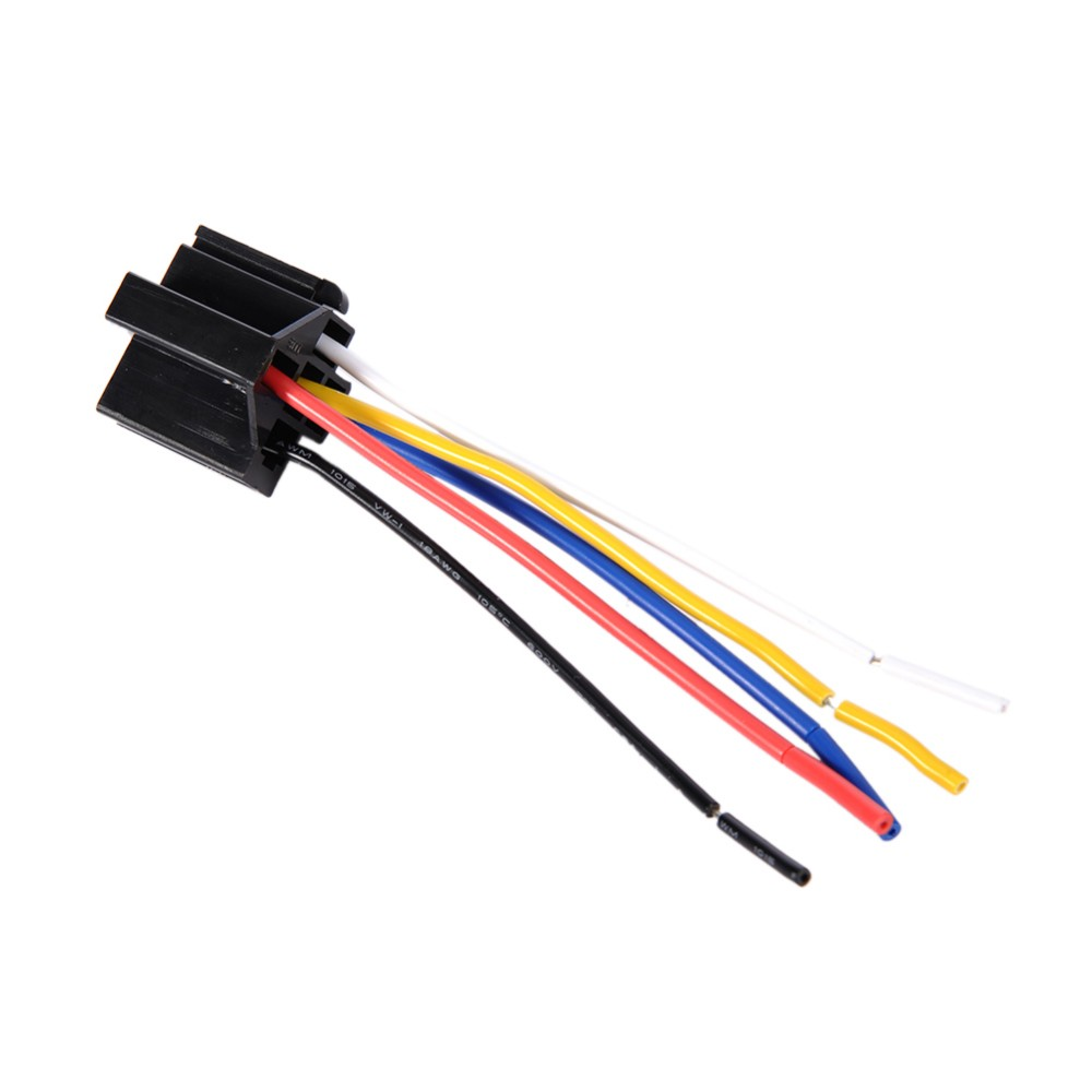 Pre Wired 5 Pin Connector Clamp Type Relays 18awg Relay 12v Mounting Prong Pigtail 1x Socket