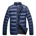 Masculino amassado jaqueta de algodão-acolchoado casacos bordados com capuz moda cavalheiro frete grátis