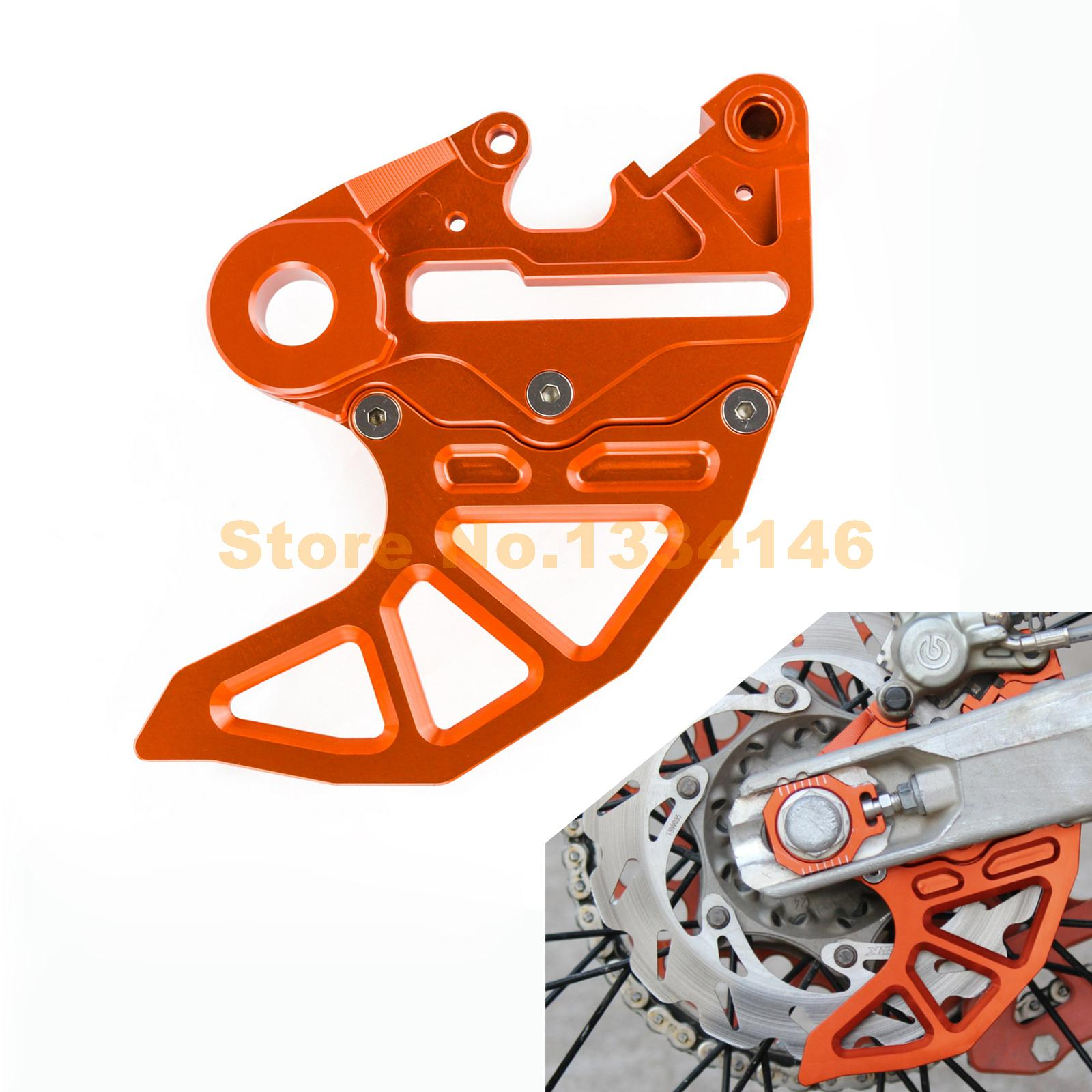 NICECNC Rear Brake Disc Rotor Guard With Caliper Support Bracket For KTM SX SX-F EXC EXC-F XC XC-F XCFW XC-W 125 250 350 450 525 motorcycle front and rear brake pads for ktm exc r450 2008 sx f 450 usd 2003 2008 xc f xcr w 450 2008 black brake disc pad