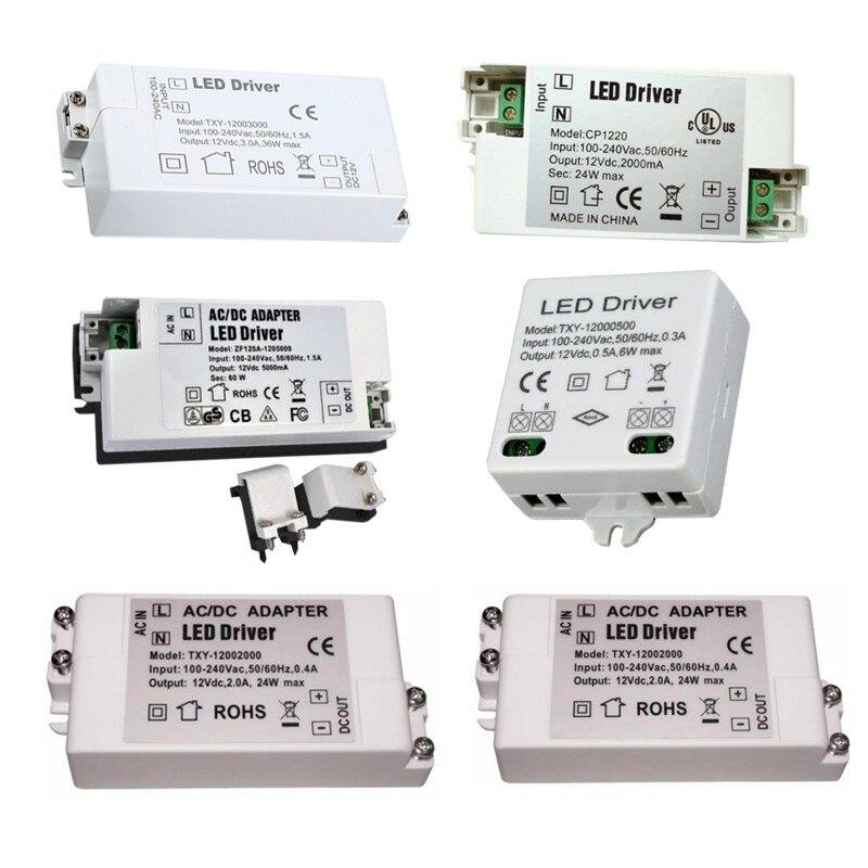 DC12V 5a 3a 2a 60w 36w 24w110V-220V Lighting Transformers led driver d17l 24ps3 03l1h1 24v 1 5a 36w