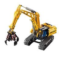 720 pieces 2in1 Compatible Legoing technique model of excavator brick building blocks without Motors Set city children's toys