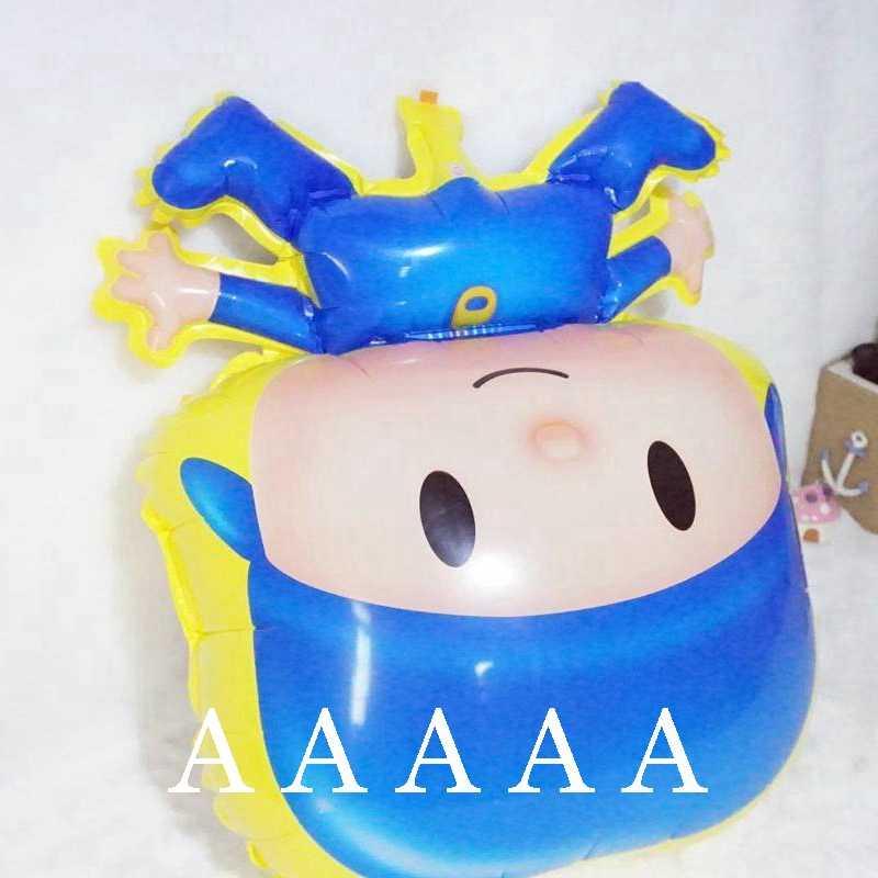 4 pc pocoyo pocoyo balões foil para festa de aniversário feliz balões dos desenhos animados balões de ar brinquedo das crianças
