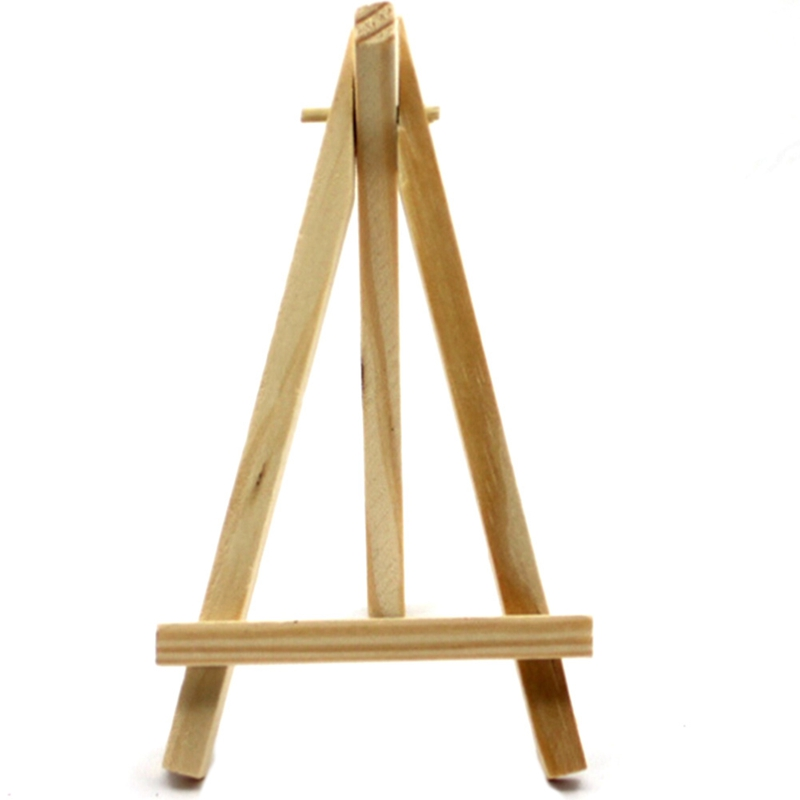1Pcs Mini Wood Artist Tripod Painting Easel For Photo Painting Postcard Display Holder Frame Cute Desk Decor