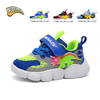 Kids Shoes Toddler Boy Sneakers Baby Boy Sneakers Light Up Shoes for Baby Led Dinosaur Shoe Breathable Sports 22 26