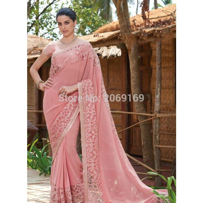 Robe De soirée inde 2019 Robe De soirée rose Robe De soirée formelle robes De soirée en dentelle longue Robe De soirée