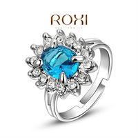 ROXI Rings For Women Anel Fine Jewelry 925 Sterling Silver Ring Wedding Anillos Couple Rings Anel Feminino Pearl