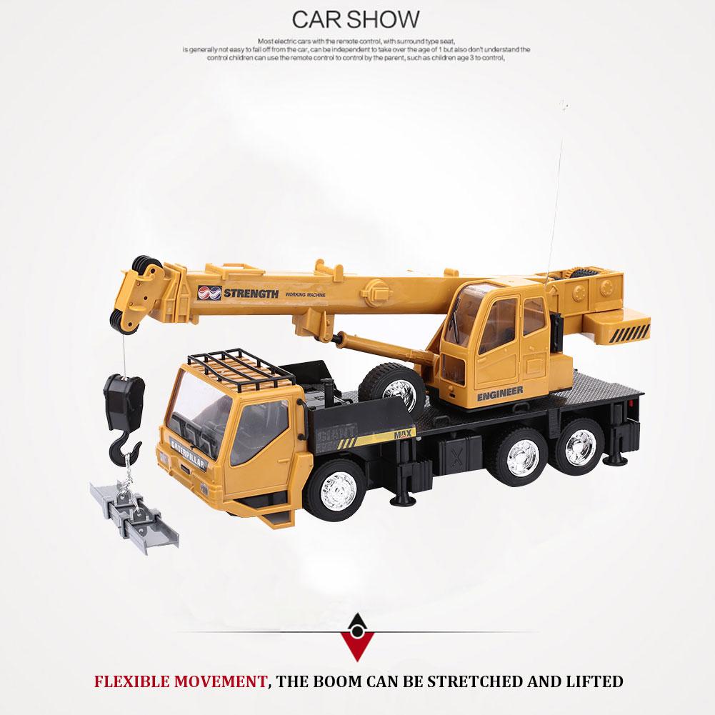 Новинка Радиоуправляемый кран грузовик 8CH расслабиться подъемный кран для детей Прямая