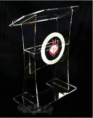 Free Shipping Hot sale Color clear acrylic pulpit podium , acrylic podium  logo customize