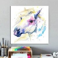 Любовь лошадь семья ребенок Фото Любимое изображение на заказ живопись холсте Номер Декоративные любит