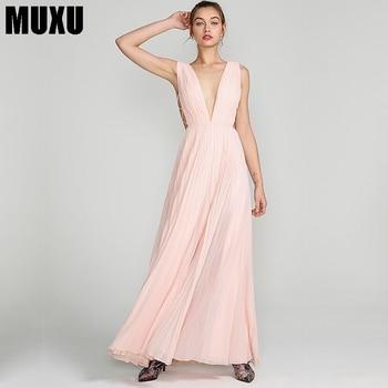 c2273999bab2 MUXU cuello redondo bodycon verano negro vestido 2018 mujer ropa malla sexy  transparente volantes ...