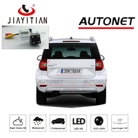 JIAYITIAN Rear View Camera For Skoda Yeti (5L) 2014~2017 Facelift with LED /license plate camera/backup camera ccd Night Vision