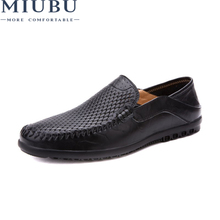MIUBU Summer Men Shoes Casual Luxury Brand Mens Penny Loafers Leather Half  Slipper Slip On Italian Driving Shoes Men Moccasins 87efa1e84386
