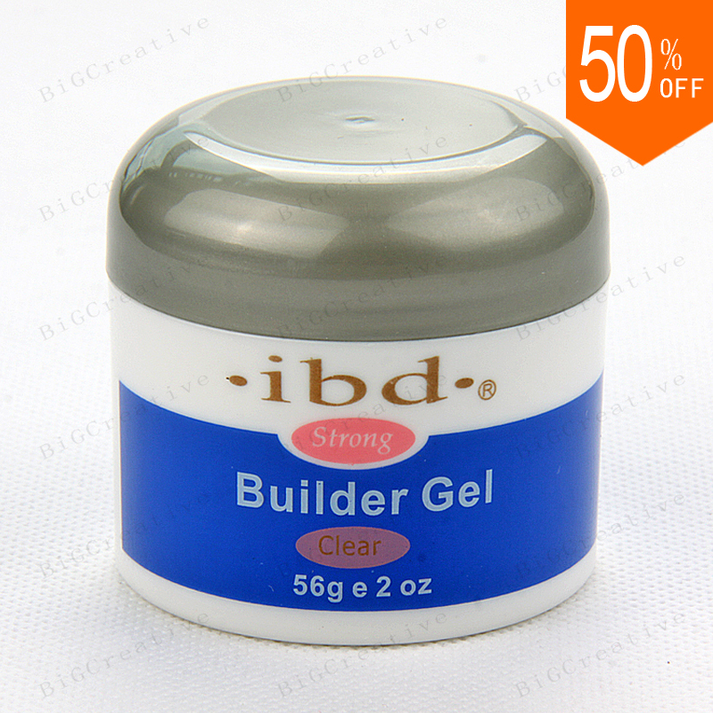 IBD Builder Gel 2oz / 56g Strong UV Gel Pink Clear White for nail art false tips extension 3 color