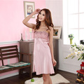 Sexy Women Sleepwear Elegant Condole Belt Nightgown Spring Summer Pure Color Thin Silk Bed Clothes Wipes Bosom Household