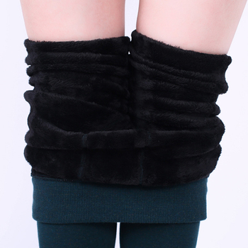 TOIVOTUKSIA Winter Women Warm Leggings Elastic High Waist Plus Velvet Thick Slim Stretch Thick Trousers Female High Quality 350g