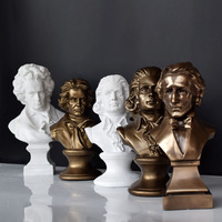 Creative Musician Mozart Beethoven Chopin Figure Sculpture Piano Ornaments Decorations Gifts Ornaments Accessories Furnishing