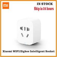 Originele Xiaomi Mi Smart Socket Plug Zigbee Versie Wifi Draadloze Afstandsbediening Socket Adapter Power Timer Schakelaar Aan En Uit Met telefoon
