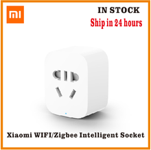 オリジナル xiaomi mi スマートソケットプラグ zigbee バージョン wifi ワイヤレスリモートソケットアダプタ電源タイマースイッチでオンとオフ電話