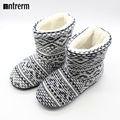 2015 New Men Flannel slippers Warm Household shoes Non Slip Hard Sole Winter Shoes Large Size Men Plush Indoor Floor Slippers