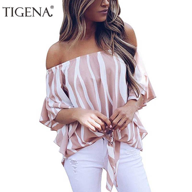 4d8f7740746 Подробнее Обратная связь Вопросы о Tigena модная женская блузка 2019 ...