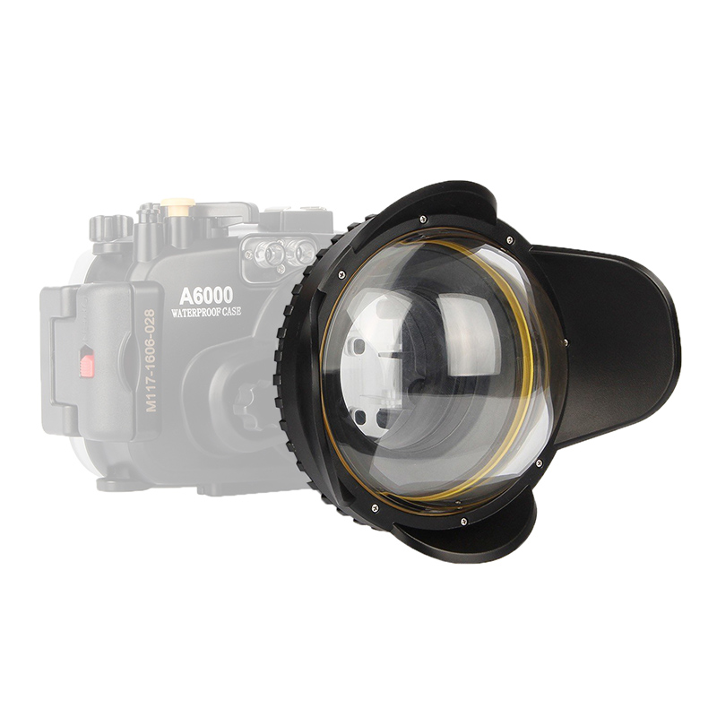 In Stock! Meikon Underwater Camera 200mm Fisheye Wide Angle Lens Dome Port (67mm Round ) camera 67mm 0 7x fisheye wide angle lens dome port 67mm round for underwater waterproof diving housing case bag