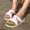 2015Summer slippers Men Casual Flat Sandals, Leisure Soft Slides,EVA Massage Beach sandals slippers Men Size40-44 free shipping