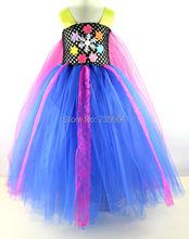 2016 акция девушки одежда платья летние мультфильм девушка платье / blut горячие принцесса пачки платье / girls'princess платье бесплатная доставка
