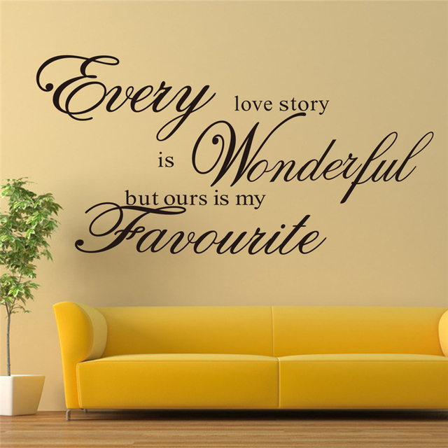 our love story is my favorite vinyl wall stickers quotes living room ...