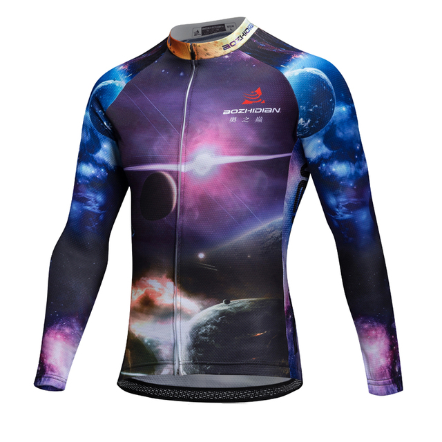 2017 AZD62S Funny Cycling Jersey MTB Pro Team Spring Custom Long Sleeve Summer Cycling Jersey Maillot Ropa Ciclismo Hombre Bike