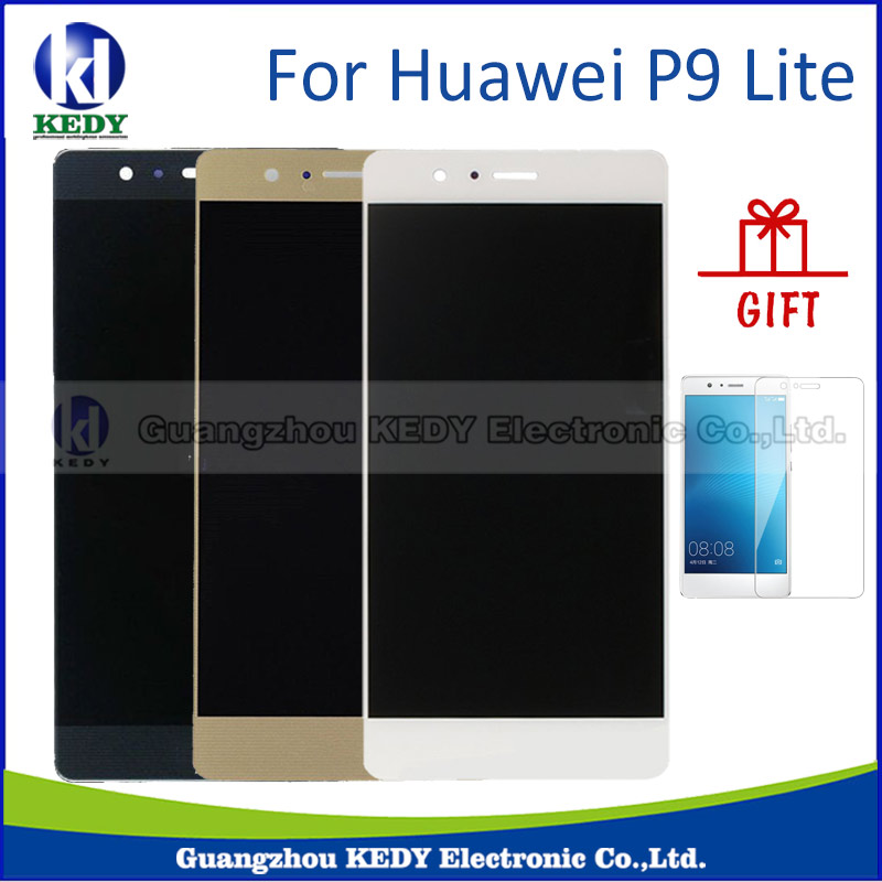 100% Probado Para Huawei P9 lite pantalla Digitalizador Asamblea Pantalla LCD de