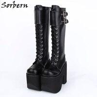 Sorber/женские сапоги до колена на молнии; сезон весна; женские дизайнерские брендовые сапоги на высоком каблуке с круглым носком; цвет на зака