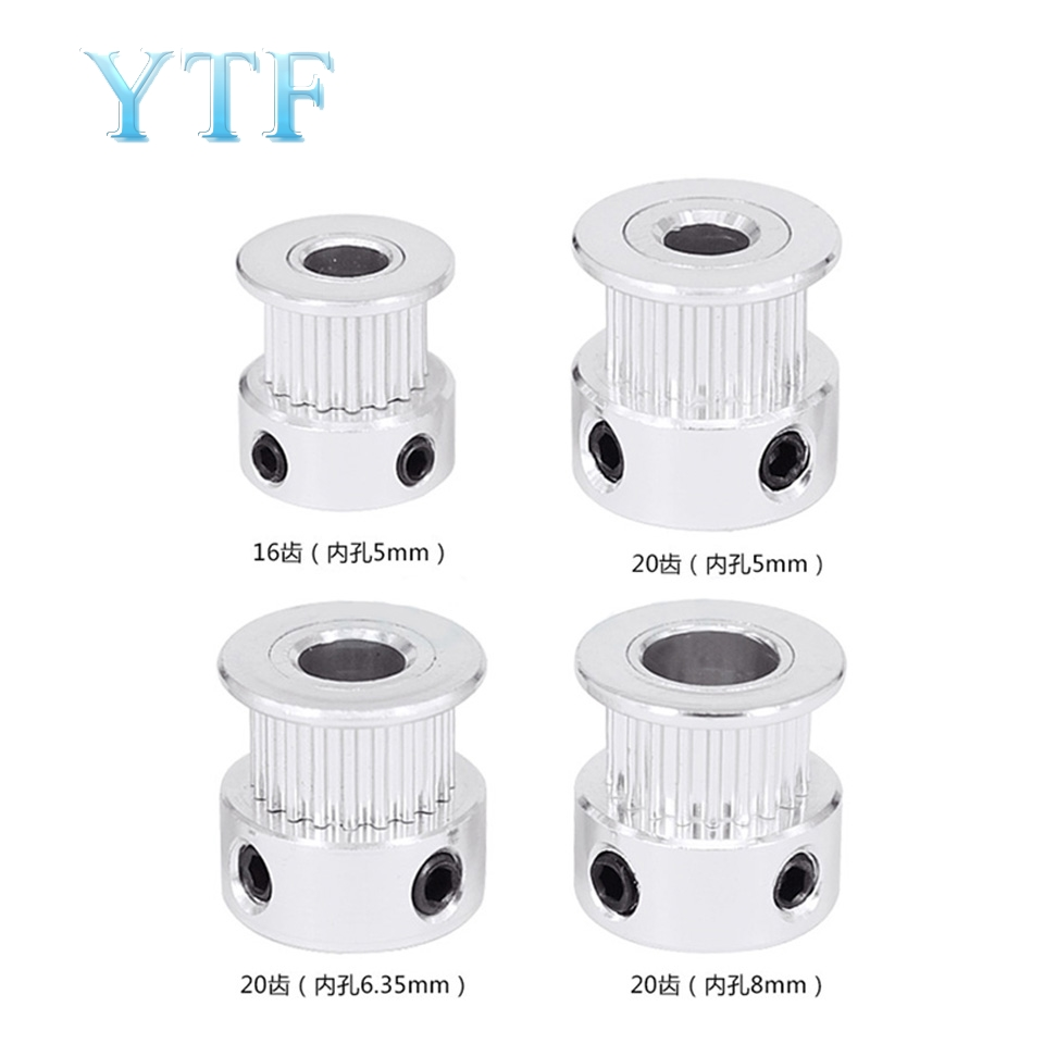 GT2 20 Tooth Timing Pulley Aluminum 3D Printer Parts 2GT 20teeth Bore 5mm Width 6mm Part Synchronous Wheel Gear With Screw Teeth