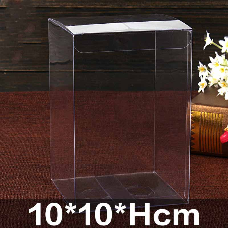 20pcs/lot 20 Sizes PVC Box Rectangle Clear Gift Display Box Cosmetic Crafts Packaging Box Transparent Plastic PVC Boxes Small