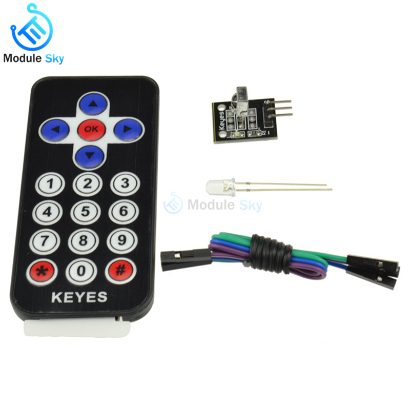 1Set Infrared IR Wireless Remote Control Transmitter Module Receiver DIY Kit HX1838 For Arduino Raspberry Pi1Set Infrared IR Wireless Remote Control Transmitter Module Receiver DIY Kit HX1838 For Arduino Raspberry Pi