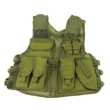 OD Green Military Tactical Combat Vest Outdoor Sports Hunting Clothing Airsoft Paintball Fishing Hiking Mesh Vest